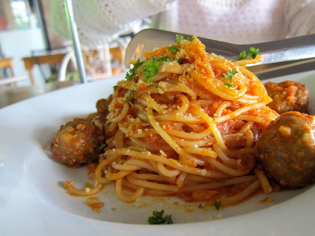 Amici Spaghetti with Meatballs