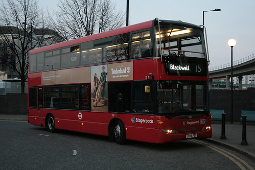 Stagecoach London 15117 on Route 15, Blackwall