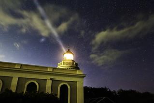 Lighthouse Astrophotography - Andromeda Galaxy and  Puerto Rico Cabo San Juan (Fajardo) Lighthouse