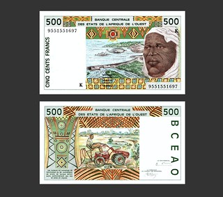 West African States 500 Francs - 1990s