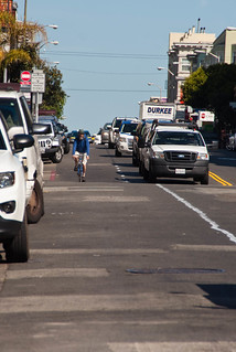 22517 Southbound Polk St. bike lane preview from California back to Sacramento