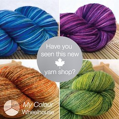 I am in love with this new Canadian yarn shop on etsy. You have to checkout Alison's latest update. www.mycolourwheelhouse.etsy.com @mycolourwheelhouse #yarnlove #indiedyer