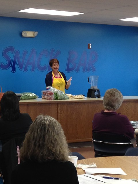 Peggy Johnson gives a live fresh foods demo!