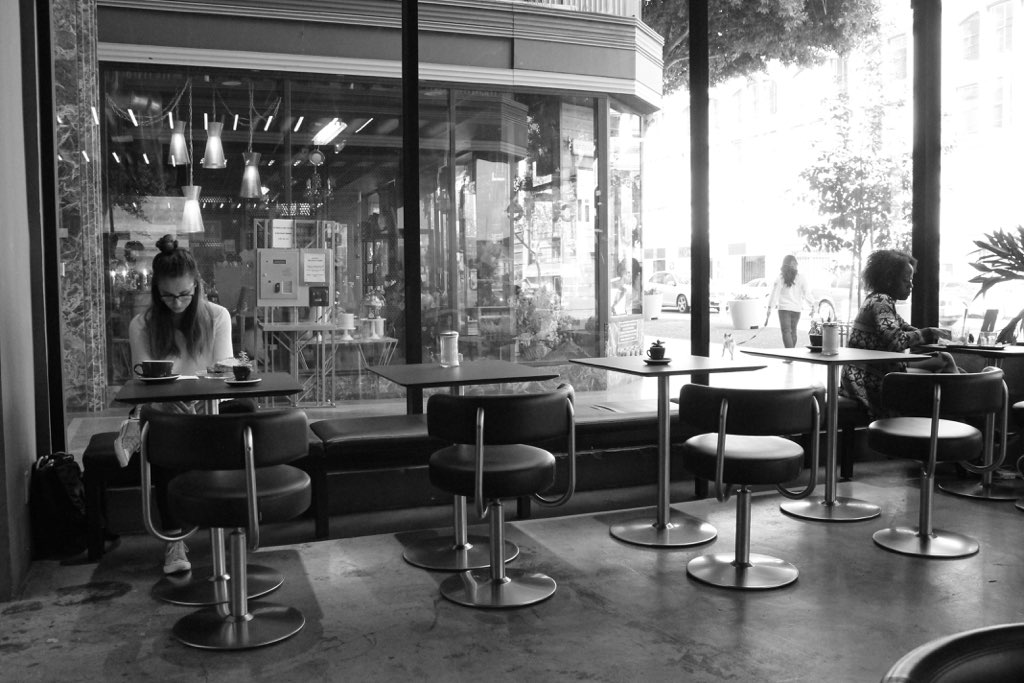 Cafe Scene, DTLA by Melina Peterson