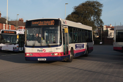 First Hampshire and Dorset 66181 W381EOW Volvo B10 / Wright