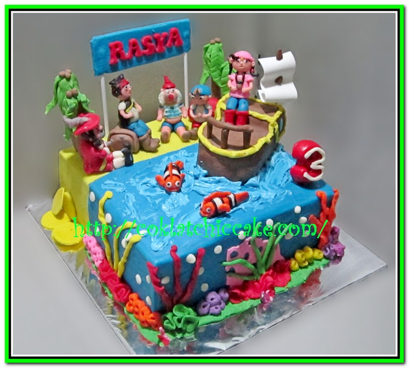 Cake Jack And The Neverland Pirate Rasya Jual Kue Ulang Tahun
