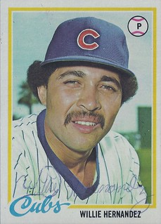 """1978 Topps - Guillermo """"Willie"""" Hernandez #99 (Pitcher) - Autographed Baseball Card (Chicago Cubs)"""