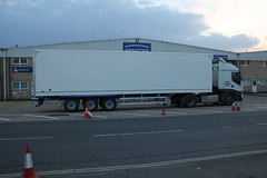 highway, vehicle, truck, transport, trailer truck, trailer, land vehicle,