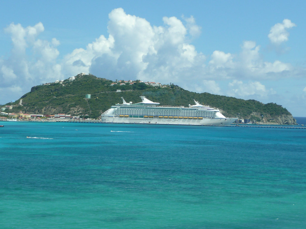 Royal Caribbean Adventure of the Seas docked in St. Maarten