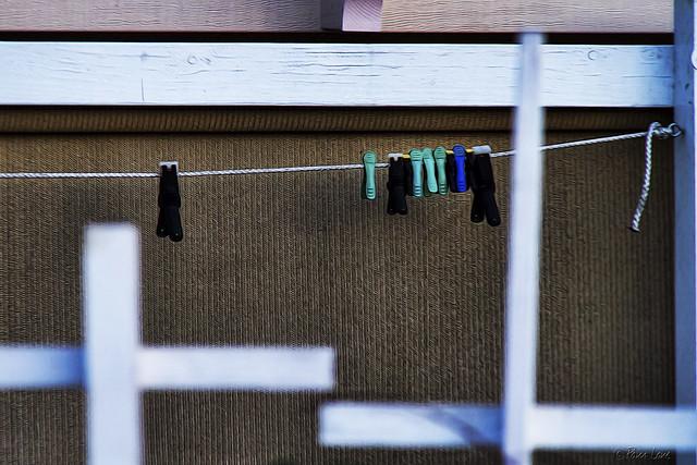 Empty clothesline