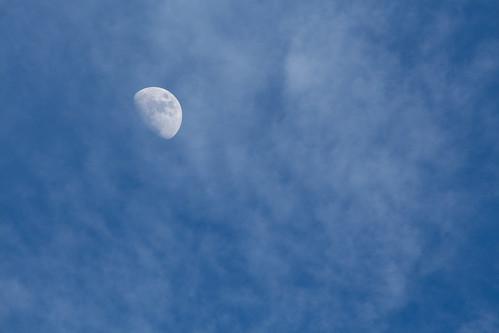 Cloudy Sky and Moon 29 Mar 2015