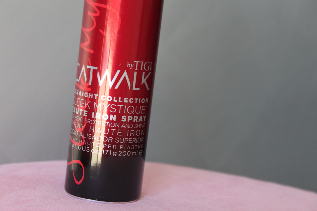 HAUTE IRON SPRAY catwalk tigi australian beauty review ausbeautyreview blog blogger aussie protect hair styling shine heat