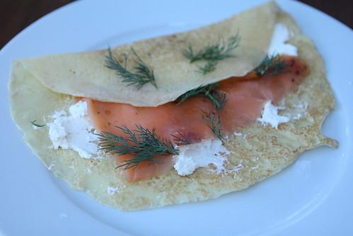 Passover Salmon Crepe