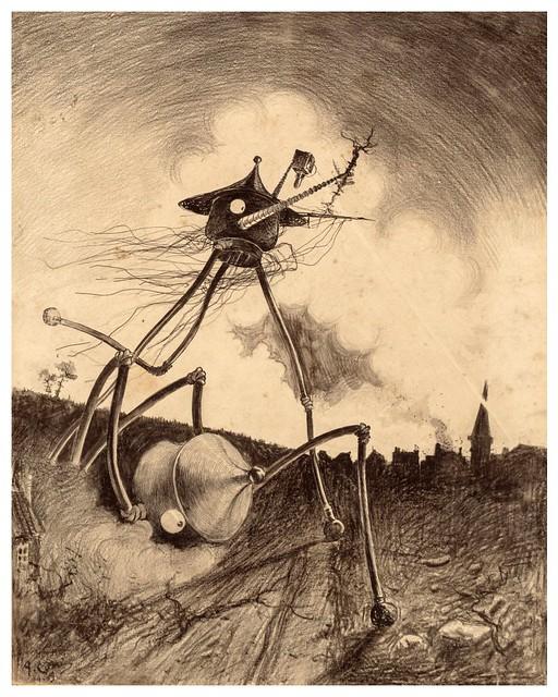 012-La Guerre des Mondes illustreè par Alvim Corrêa-1906- Heritage Auctions
