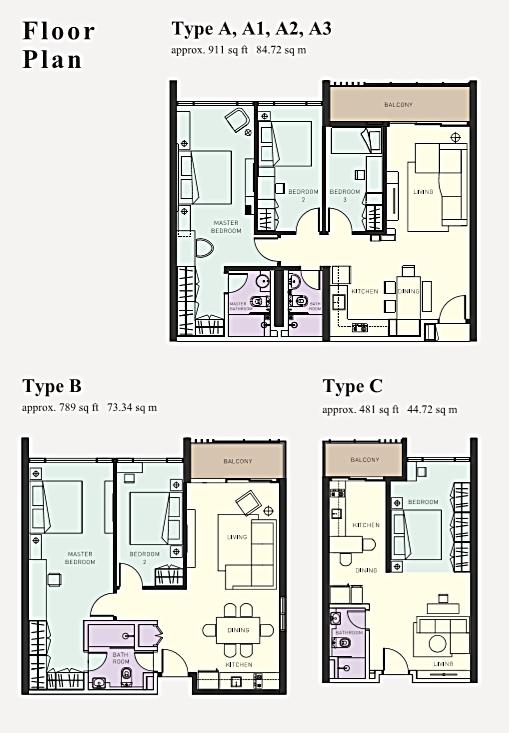 Kiara East Floor Plan - 1