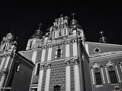St. Michael's Golden-Domed Monastery in Kiev. Fragment of the Facade