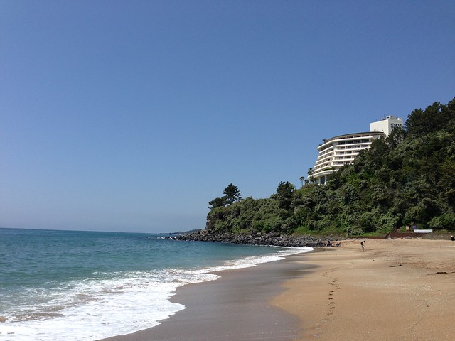 Hotel and beach view