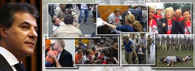 governador beto richa manda policia agredir manifestantes
