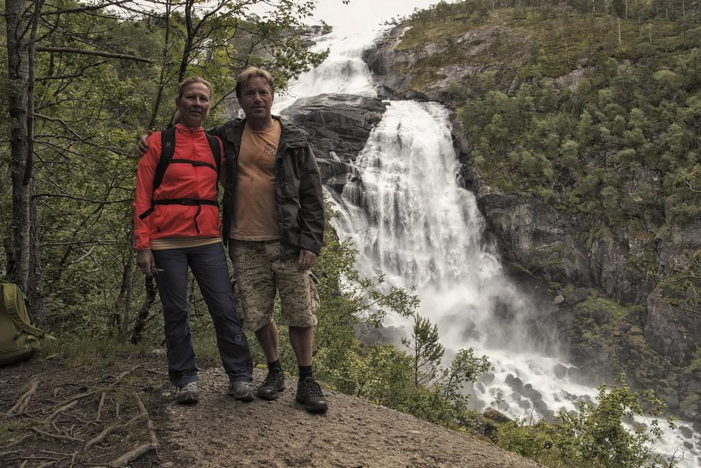 Hike Kinsarvik Husedalen, til alle fire fossar.  Nyastølsfossen ca 400moh. Kinsarvik, Hardanger