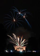"""Fireworks of """"Schloss in Flammen"""" at the castle of Schwetzingen"""