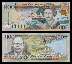 (XCD7c) 1998 Eastern Caribbean States: Anguilla, Eastern Caribbean Central Bank, One Hundred Dollars (A/R)...