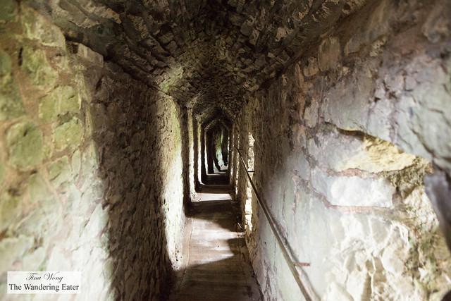 The narrow corridor to the cave
