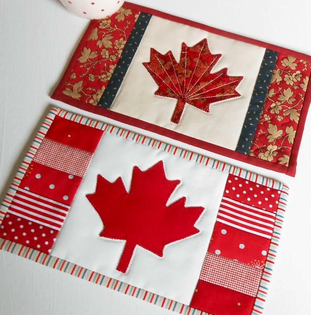 Canadian Flag Maple  Mug Rug