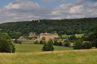 Domaine de Chatsworth House (fin XVIIe), Bakewell, Derbyshire, Anglterre, Grande-Bretagne, Royaume-Uni.