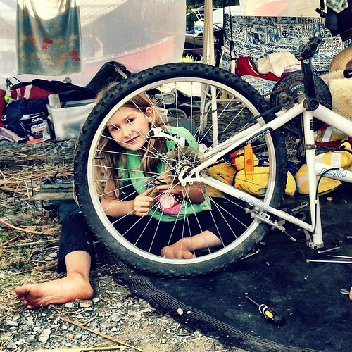 After breakfast, she became a bicycle mechanic.