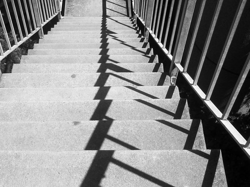 Abstract Stairs and Shadow