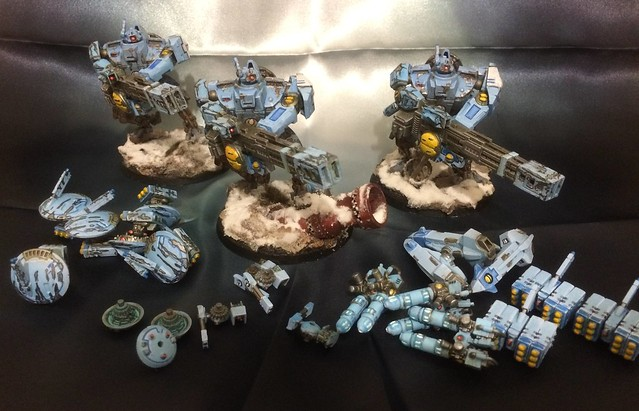 Tau Broadside with weapon options #WIPWednesday