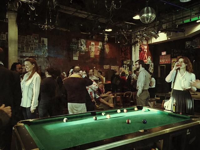 Murder Ballad set/bar at Studio Theater