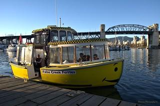 "False Creek Ferries ""Water Taxi"" - Granville Island"