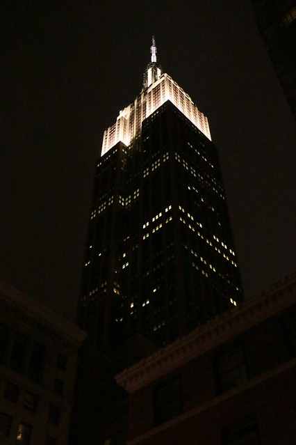 L'Empire State Building di sera