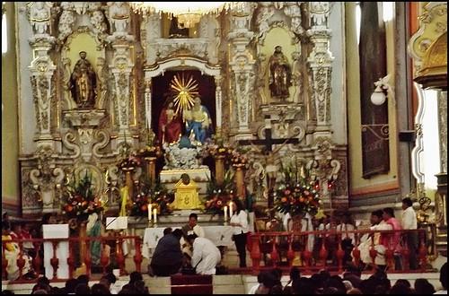 Jueves Santo,Semana Santa 2015,Templo del Ex Hospital de San Juan de Dios (Centro) Puebla de los Ángeles,Puebla,México