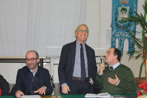 A sinistra Giuseppe Valenzano assessore rutiglianese nella Città Metropolitana