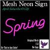 [ free bird ] Spring Neon Sign Ad