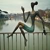 On the bridge I search the place,  where she disappeared.  #Tbilisi #streetphotography  #Georgia #haiku #bride #statue #Mtkvari #river #GoodNight