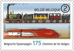 14 SNCB 175 ans timbre