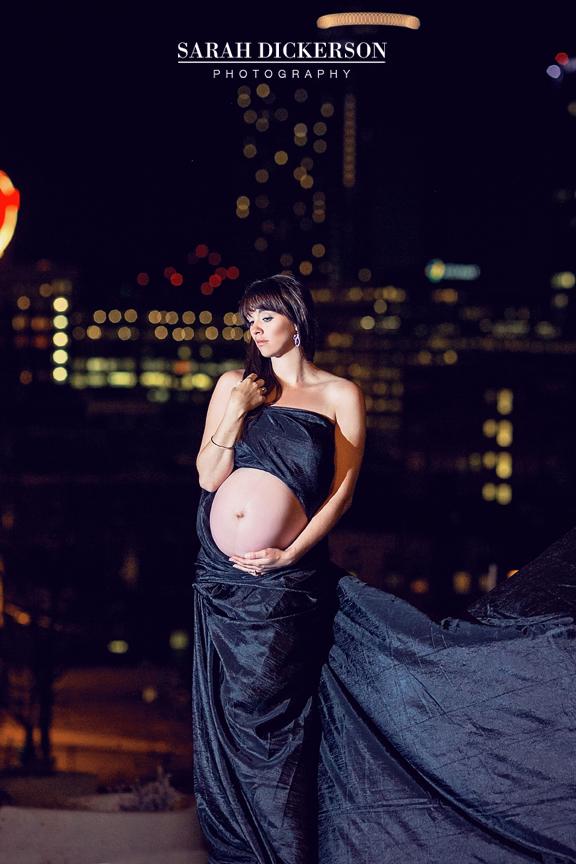 Kansas City night maternity session