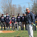 During the New Fairfield Little League opening day ceremonies, Rep. Richard A. Smith thanks servicemen and servicewomen for all they do.