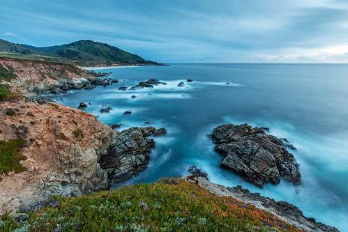 ocean california statepark longexposure seascape landscape evening coast pacific bigsur shore garrapatastatepark garrapata