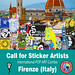 Call for the Sticker Artist! Firenze, (Italy) by Stelleconfuse