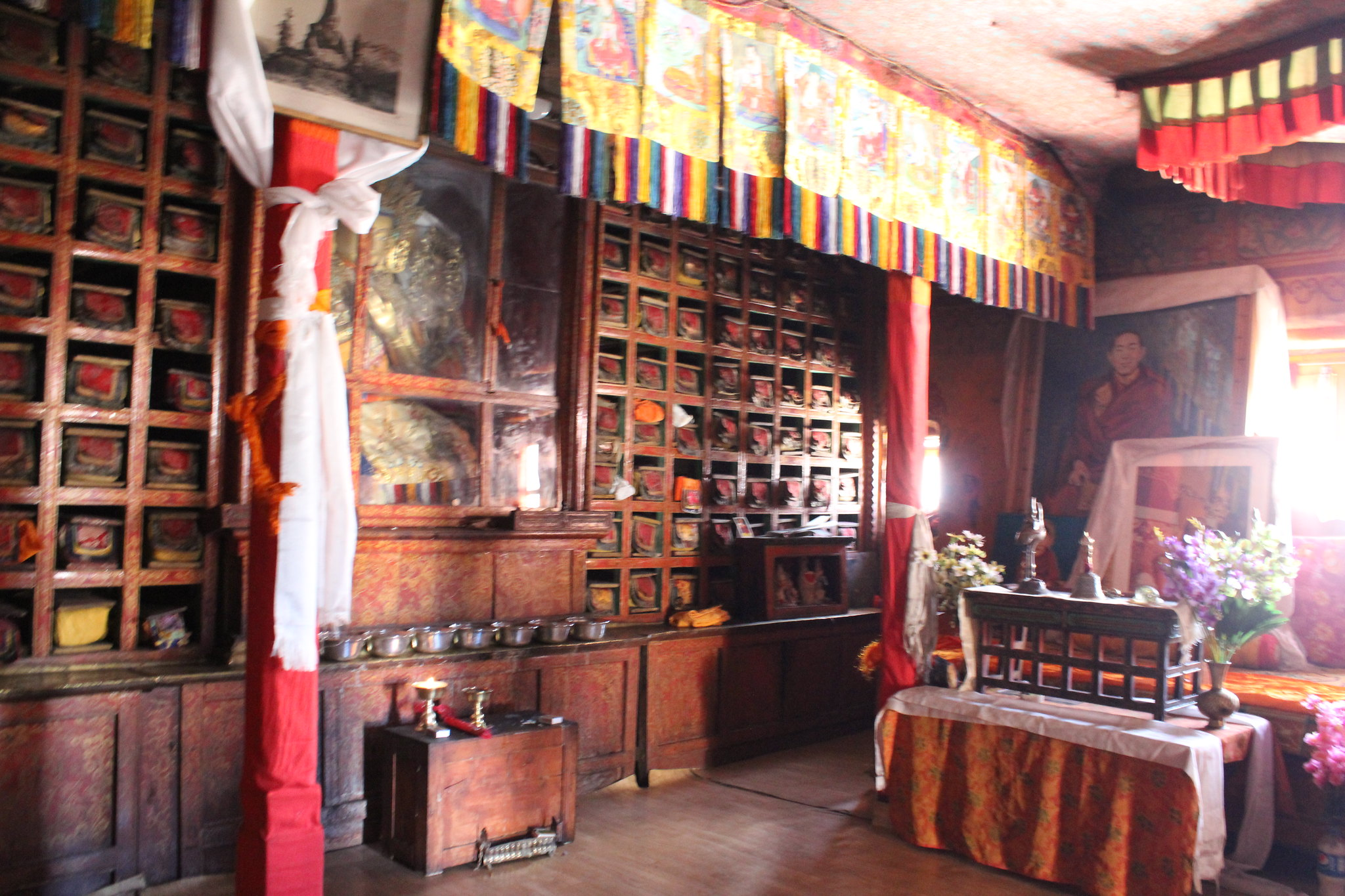 Inside Kye Monastery