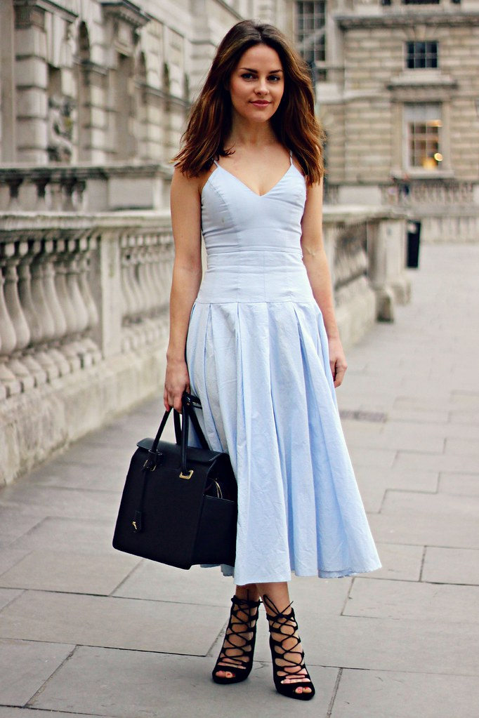 Blue Cinderella inspired prom dress
