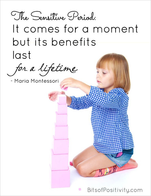 "The Sensitive Period: ""It comes for a moment but its benefits last for a lifetime."" Maria Montessori"