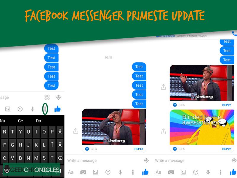 Facebook Messenger primeste un update major