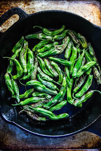 Blistered Shishito Peppers with Sesame Sauce