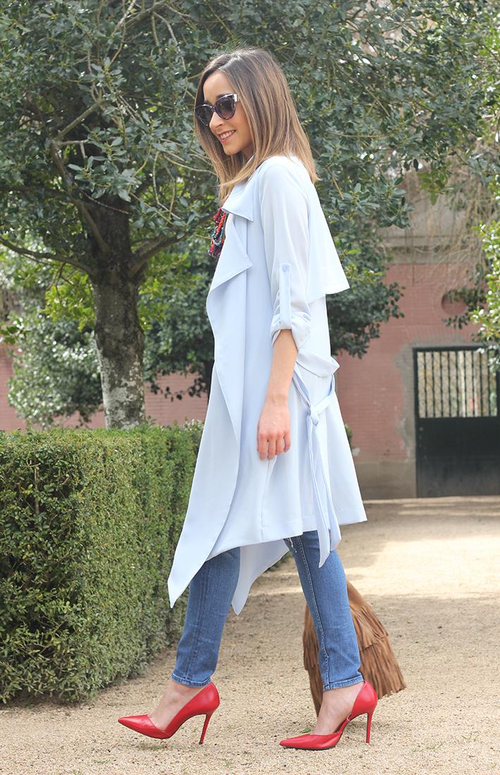 blue trench jeans zara fringe bag05