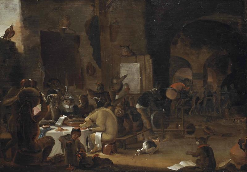 Circle of Cornelius Saftleven - A Sorcery Scene, 17th Century